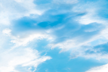 Evening sky with cloud and blue sky