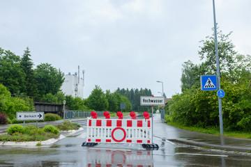 Hochwasser Sperrung