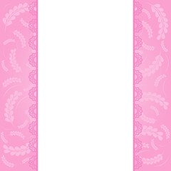 Pink greeting card template.