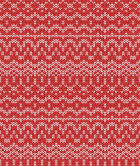christmas seamless knitting pattern, vector illustration