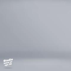 Vector :Empty pale grey studio room background ,Template mock up