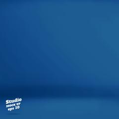 Vector :Empty navy blue studio room background ,Template mock up