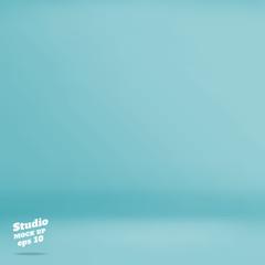 Vector :Empty pastel turquoise studio room background ,Template
