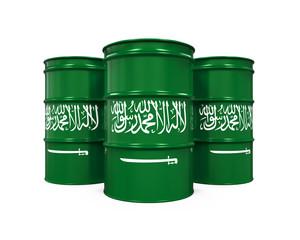 Saudi Arabia Flag Oil Barrel