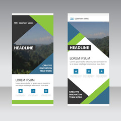 Corporate Business Roll Up Banner flat design template ,Abstract Geometric banner template Vector illustration set, abstract presentation template