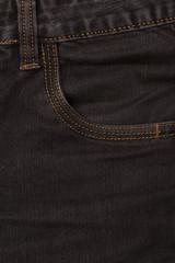 front jeans pocket closeup