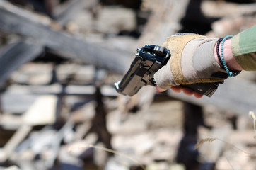 Hand gun airsoft