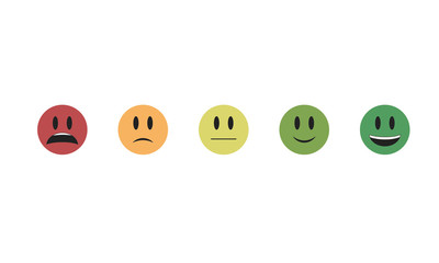 Set of  emoticon vector isolated on white background. Emoji vector. Smile icon collection. Emoticon icon web. Сhange of mood