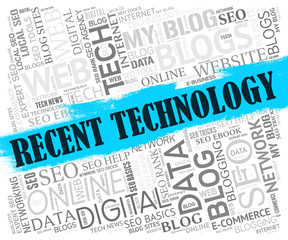 Recent Technology Shows Website Headline And Network