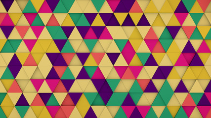 Colorful triangles hipster background 3D render