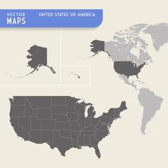 USA Vector hi quality map