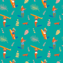 Hawaiian beach summer pattern.