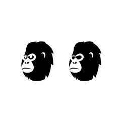 Gorilla Monkey Head Vector Logo