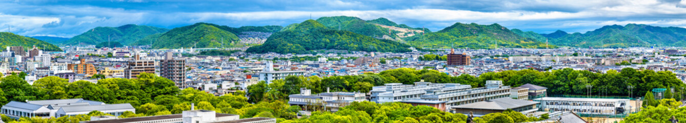 View of Himeji city from the castle - Japan