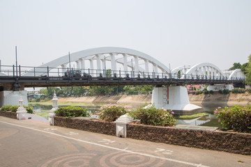 Ratsadaphisek Bridge is The oldest concrete bridge in Lampang. thailand