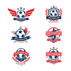 Soccer Club Badge Set, Football Team Badge