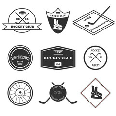 Hockey logo set