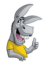 Donkey with thumbs up