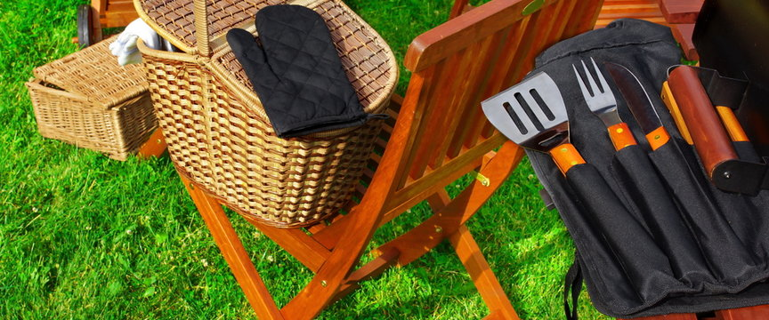 BBQ Grill and BBQ Tools