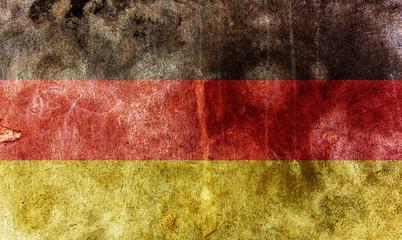 closeup of grunge german flag
