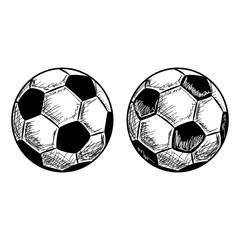 Hand Drawn Fussball Football Vector Sketch