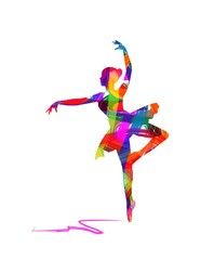 abstract dancer silhouette