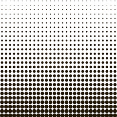 Halftone dots, black dots on white isolated background