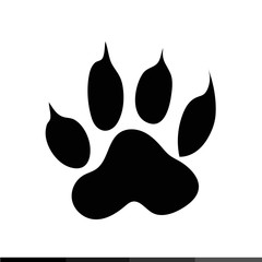 Animal footprint icon Illustration design