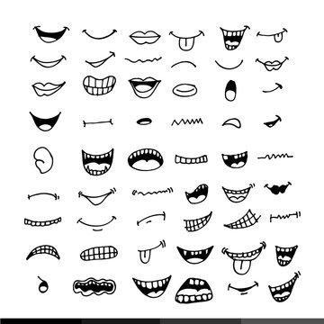 cartoon mouth icon Illustration design