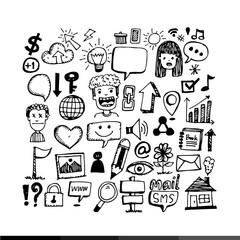 hand draw Business doodles Illustration design