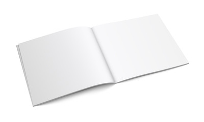 White Empty Brochure