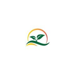 green leaf organic logo