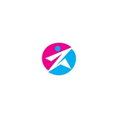 vector abstract people icon logo