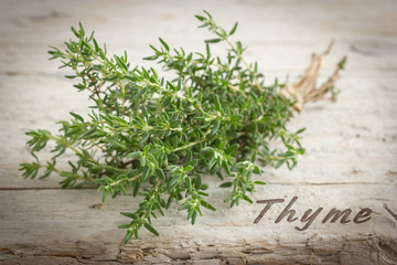 Bunch of fresh thyme