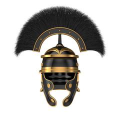Isolated 3d illustration of a Roman Helmet