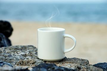 Coffee on the beach.