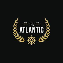 Vintage nautical logo, Retro design element