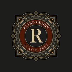 Vector luxury monogram design template