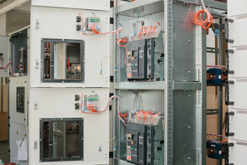 Low-voltage cabinet. Uninterrupted power. Electrical power.