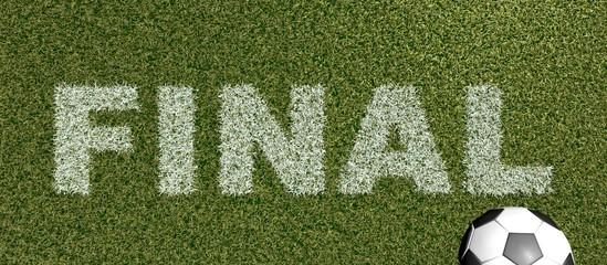 FINAL - grass letters on football field