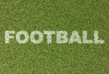 FOOTBALL - grass letters on soccer field