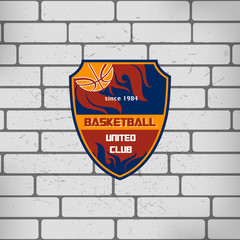 sport basketball team logo college crest