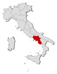 Map - Italy, Campania