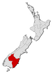 Map - New Zealand, Otago