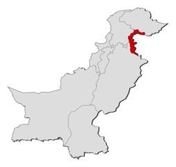 Map - Pakistan, Jammu and Kashmir