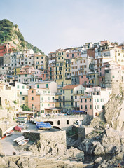 Cinqueterre, Italy, cliff face and architecture