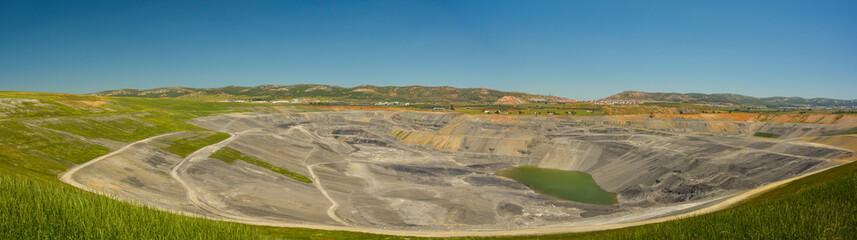 Panorámica de la mina Emma, minería del carbón, Puertollano, Ciudad Real, España
