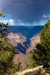 Rain storm in Grand Canyon National Park, South Rim