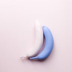 Two fashion banana. Minimal poster