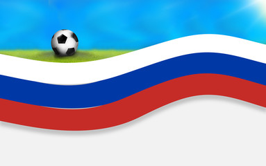 football russia soccer flag background 3D